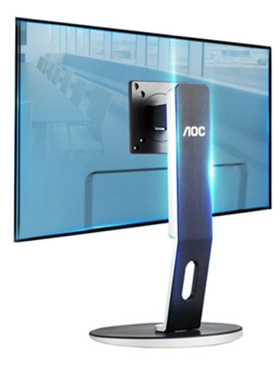 "AOC H271 24-27"" LCD Height Adjust Monitor Stand 75mm & 100mm VESA"