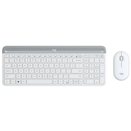 Logitech MK470 Slim W/L Desktop Kit - White