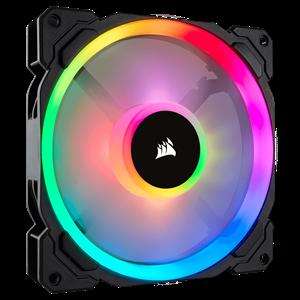 CORSAIR LL SERIES, LL140 RGB, 140MM DUAL LIGHT LOOP RGB LED PWM FAN, SINGLE PACK