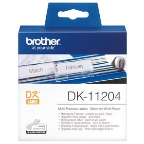 Brother DK11204 400 Multi-Purpose Address Labels 17mm x 54mm
