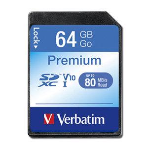 Verbatim Premium SDXC Class 10 Card 64GB
