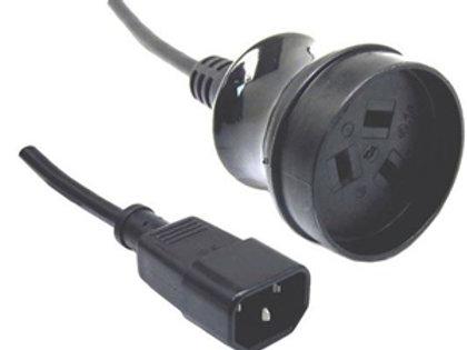 10A/250V UPS IEC (M) to 3 Pin Power (F) 0.5m Power Cord