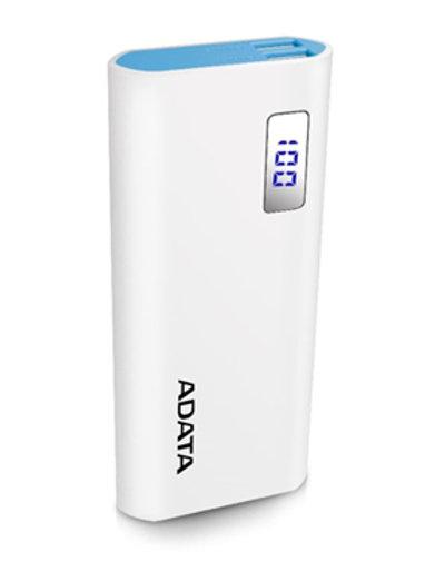 ADATA PT100 10000mAh Powerbank with Flashlight - Aqua/Pink