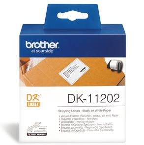 Brother DK11202 300 Shipping/Name Badge Labels 62mm x 100mm