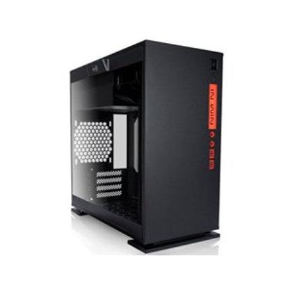 IN WIN 301 BLACK MICRO ATX CASE, WINDOW TEMPERED GLASS, NO PSU