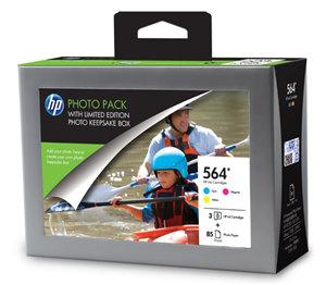 HP 564 Photo Value Pack CMY w Photo Storage Box 85sht