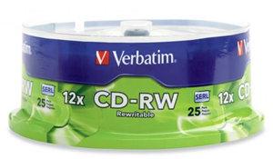 Verbatim CD-RW 700MB 4-12x 25 Pack on Spindle
