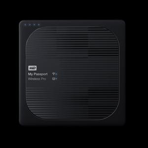 WD MY PASSPORT WIRELESS PRO 2TB USB 3.0 EXTERNAL HDD BLACK