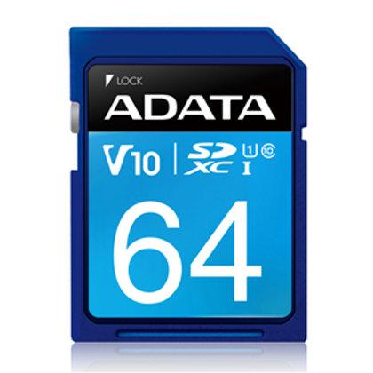 ADATA Premier UHS-I V10 SDXC Card 64GB