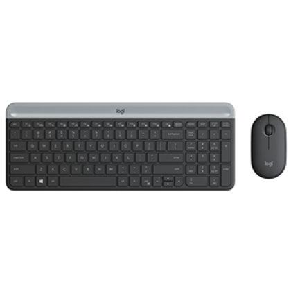Logitech MK470 Slim Wireless Desktop Kit Black