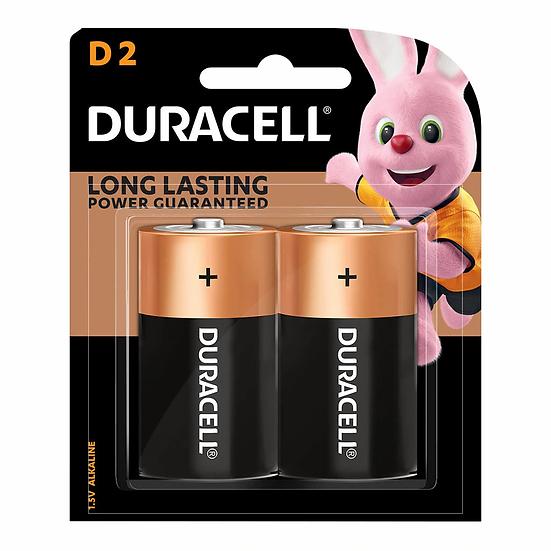 Duracell Coppertop Alkaline D Battery Pack of 2