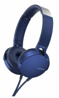 Sony MDRXB550APL Extra Bass Headphones - Overhead Style Blue