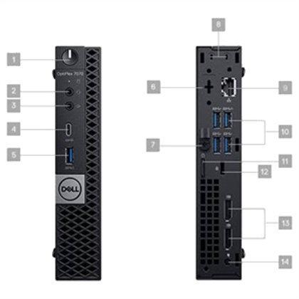 Dell OptiPlex 7000 7070 Desktop Computer - Intel Core i5 9th Gen i5-9500T 2.20 G