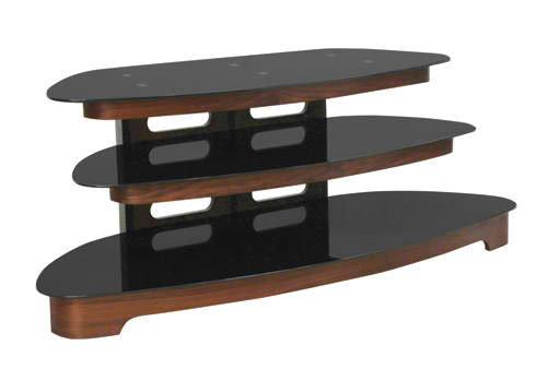 "OMP 3 SHELF 32-55"" TV TABLE WALNUT GLACIER"