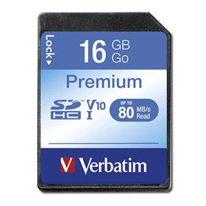 Verbatim Premium SDHC Class 10 Card 16GB