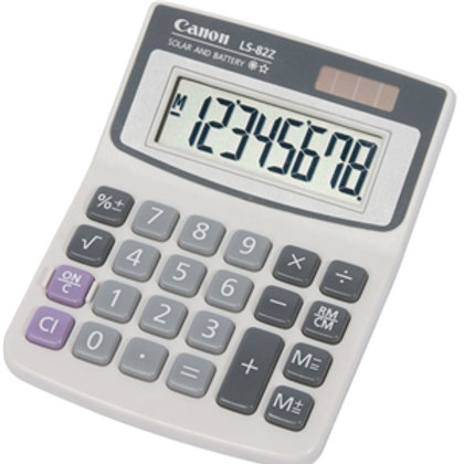 Canon LS82ZBL 8 Digit Mini Desktop Calculator