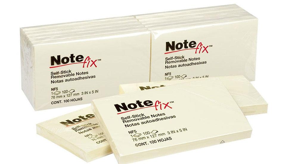 NoteFix Self-Stick Notes 76x127mm Yellow