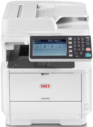OKI MB562dnw 45ppm Mono LED MFC Printer WiFi