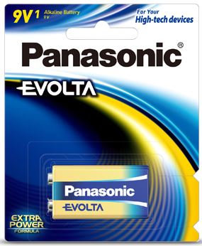 Panasonic Evolta 9V Alkaline Battery 1 Pack