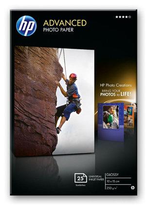 HP Advanced 10x15cm Glossy 250gsm Photo Paper - 25 Sheets
