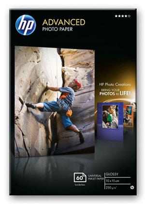 HP Advanced 10x15cm Glossy 250gsm Photo Paper - 60 Sheets