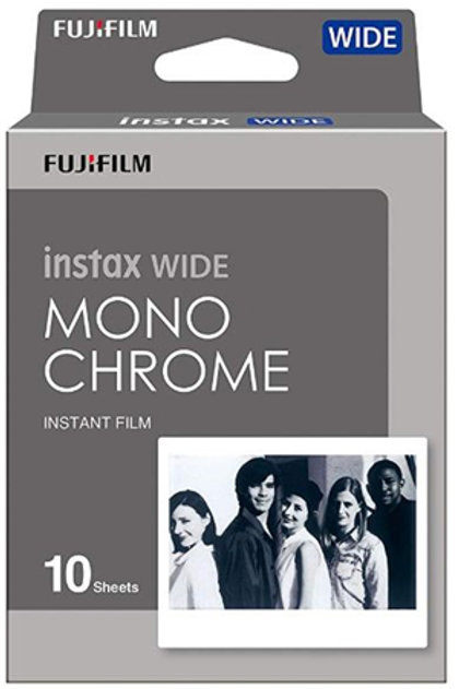 Fujifilm Instax Wide Film 10 Pack Monochrome