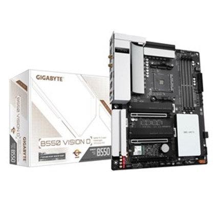 Gigabyte B550 VISION D ATX For AMD Ryzen 3rd Gen CPU,AM4, B550, 4XDDR4 Dimm, 2XM