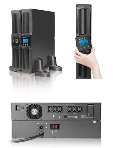 DELTA RT-SERIES TURE ON-LINE DOUBLE CONVERSION 1000VA/900W TOWER/RACK(2U) LCD UP