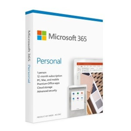 Microsoft 365 Personal English 1 YR Subscription MAC/WIN Medialess