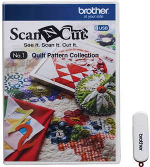 Brother CAUSB1 Scan N Cut Fabric - USB Number 1 Quilt Pattern