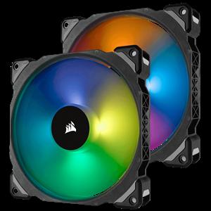 CORSAIR ML140 PRO RGB, 140MM PREMIUM MAGNETIC LEVITATION RGB LED PWM FAN, TWIN F