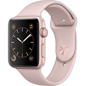 Apple Watch Series 2, 42mm Rose Gold Aluminium Case with Pink Sand Sport Band -