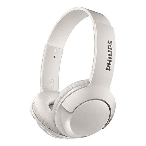 PHILIPS WIRELESS ON EAR BLUETOOTH HEADPHONES WHITE