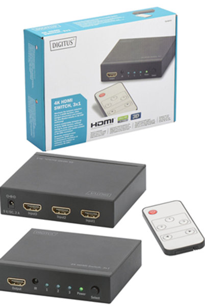 Digitus 4K HDMI 3 Way Switch