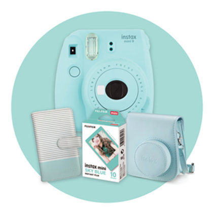 Fujifilm Instax Limited Edition Mini 9 Gift Pack Blue