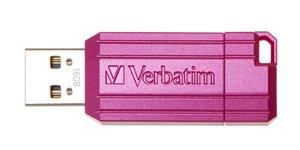 Verbatim Store'n'Go Pinstripe USB2.0 Flash Drive 16GB Pink