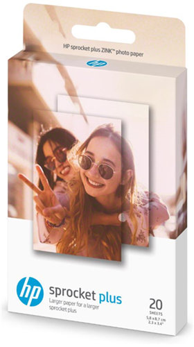 HP Sprocket Photo Paper 2.3 x3.4 inch (20 sheets)