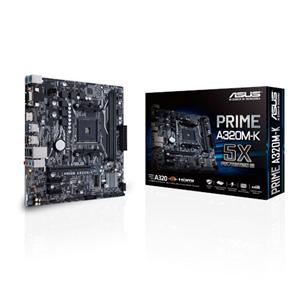ASUS PRIME A320M-K AMD A320 AM4 SOCKET M-ATX 2XDDR4-3200 PCI-E3.0 SATA3 M.2 RAID