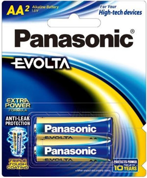 Panasonic Evolta AA Alkaline Battery 2 Pack