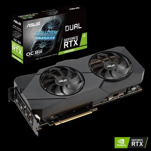 ASUS DUAL-RTX2080S-O8G-EVO-V2 DUAL GEFORCE RTX2080 SUPER EVO V2 OVERCLOCKED 8GB