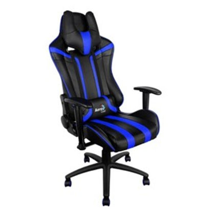 AEROCOOL AC120-BLACK-BLUE / RACE-CUSHION-V1 GAMING CHAIR