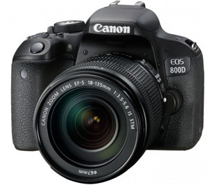Canon EOS800D 24.2MP APS-C DSLR Camera w/18-135 USM Lens