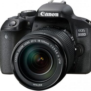 Canon EOS800D 24.2MP APS-C DSLR Camera w/18-135 USM Lens
