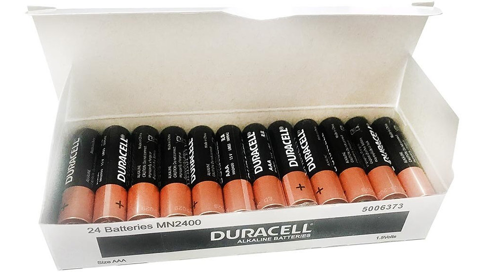 Duracell Coppertop Alkaline AAA Battery Bulk Pack of 24