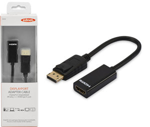 Ednet DisplayPort v1.1 (M) to HDMI Type A (F) 0.15m Adapter Cable