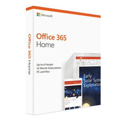 Microsoft Office 365 Home 2019 6 Users/1 Household - 1 Year
