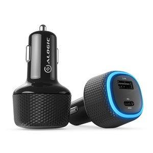 ALOGIC RAPID 2 PORT USB-C & USB-A LAPTOP & PHONE CAR CHARGER - 45W POWER DELIVER