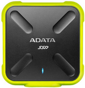 ADATA SD700 USB3.1 Rugged IP68 External SSD 1TB Blk/Yellow