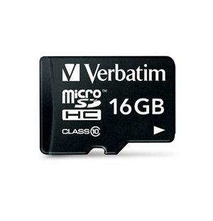 Verbatim Premium microSDHC UHS-I Class 10 Card with Adapter 16GB