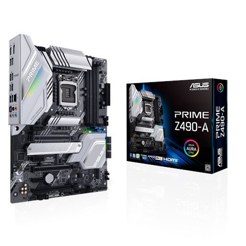 ASUS PRIME Z490-A INTEL Z490 (LGA 1200) ATX 4XDDR4-4600 MHz PCI-E3.0 USB3.2 M.2